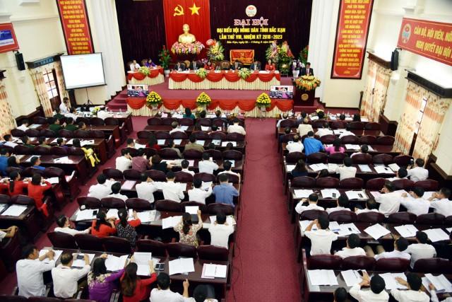 Toàn cảnh Đại hội đại biểu Hội Nông dân tỉnh Bắc Kạn lần thứ VIII, nhiệm kỳ 2018-2023