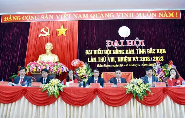 Đoàn Chủ tịch điều hành Đại hội đại biểu Hội Nông dân tỉnh Bắc Kạn lần thứ VIII, nhiệm kỳ 2018-2023